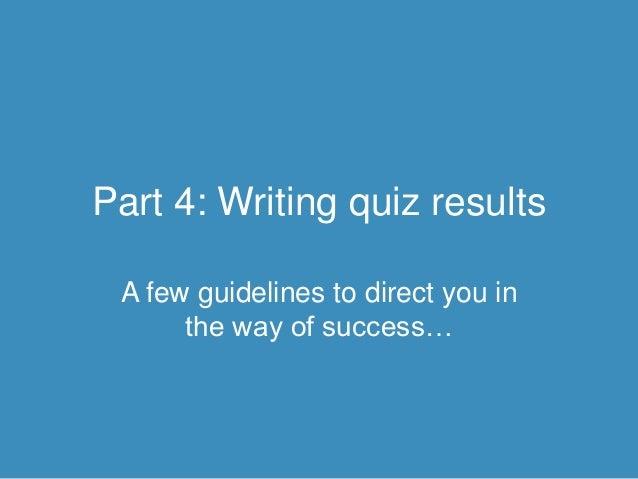Screenwriting Personality Quiz