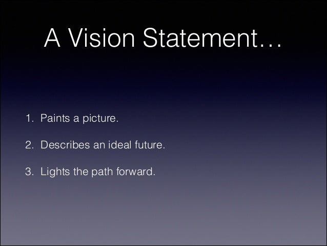 writing a personal vision statement