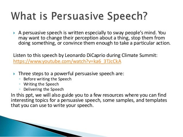 How to write custom persuasive speech