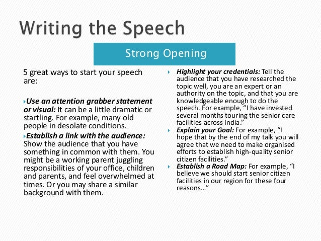 Help writing a speech
