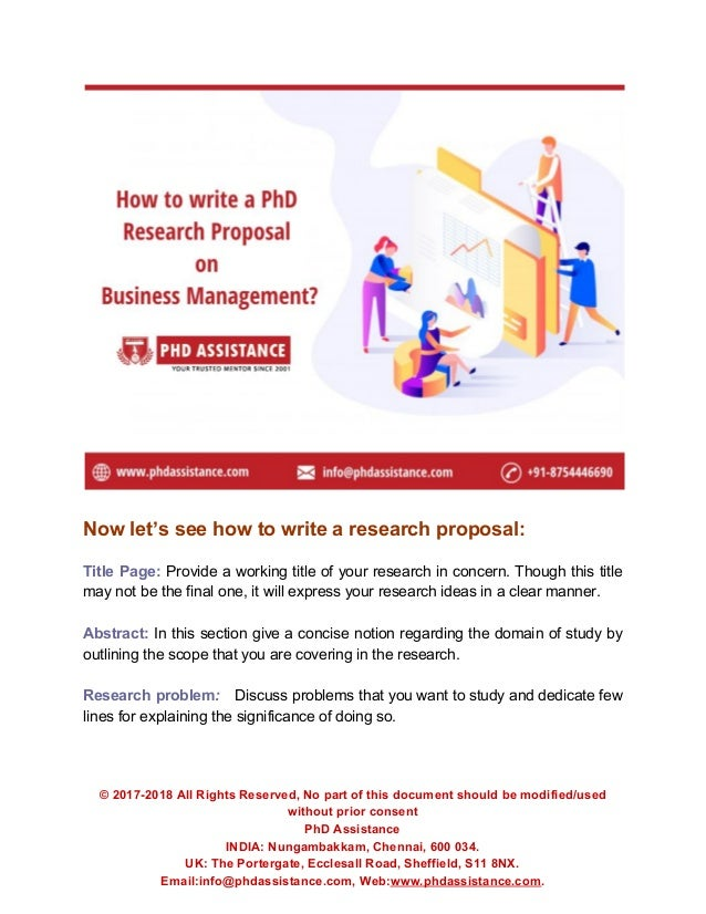 Phd business administration research proposal