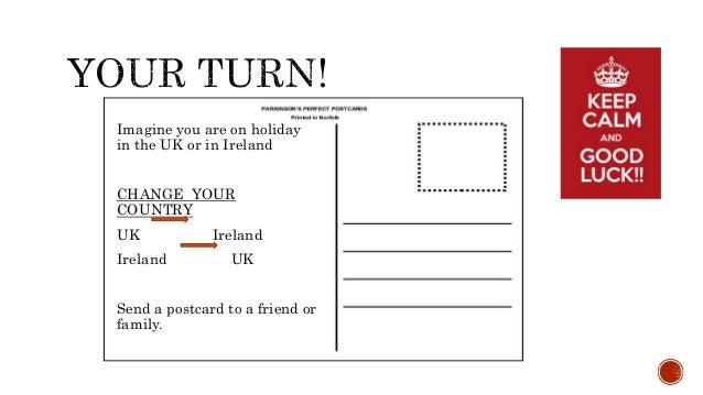 write a postcard to friend about your holiday