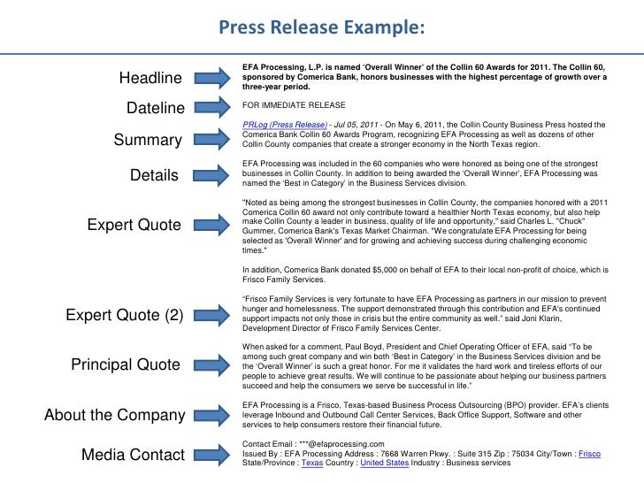 Best press release template akbaeenw best press release template cheaphphosting Gallery
