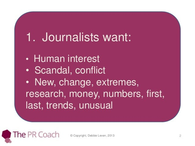 How to write a press release Slide 2