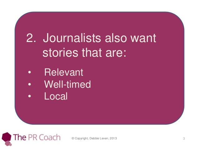 How to write a press release Slide 3