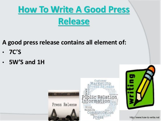 How to write a good press release ukiah