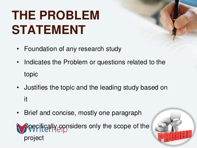 problem statement in research paper