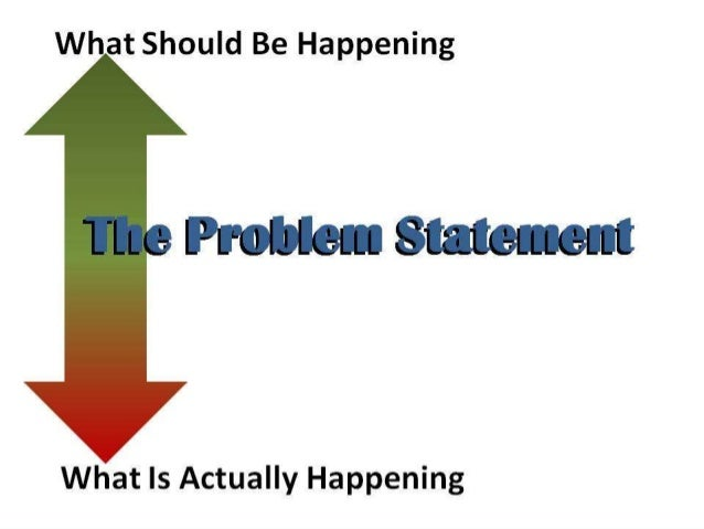 how to write a good problem statement