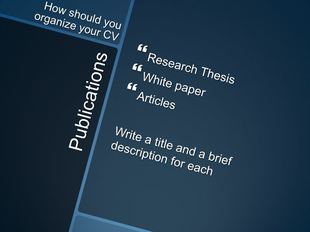 publications research thesis white paper
