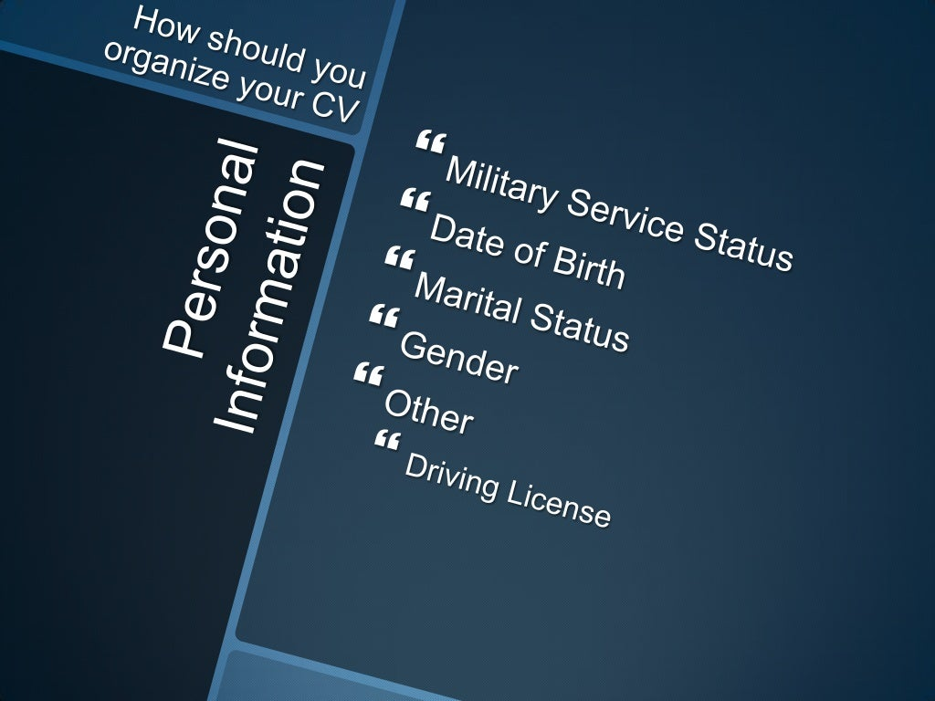 personal information military service status