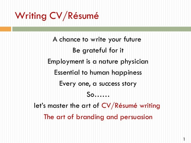 how to write a professional cv - Writing A Professional Resume