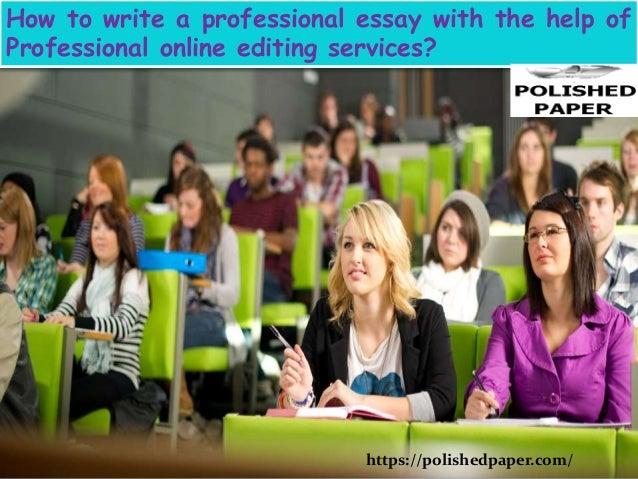 Online essay editing service