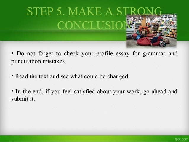 Essay conclusion help personality profile