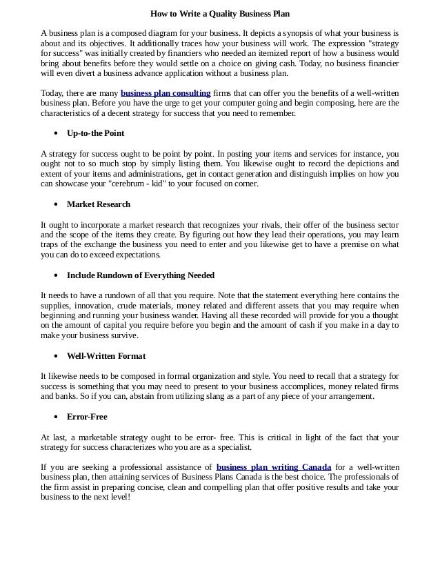 marketing consulting business plan template
