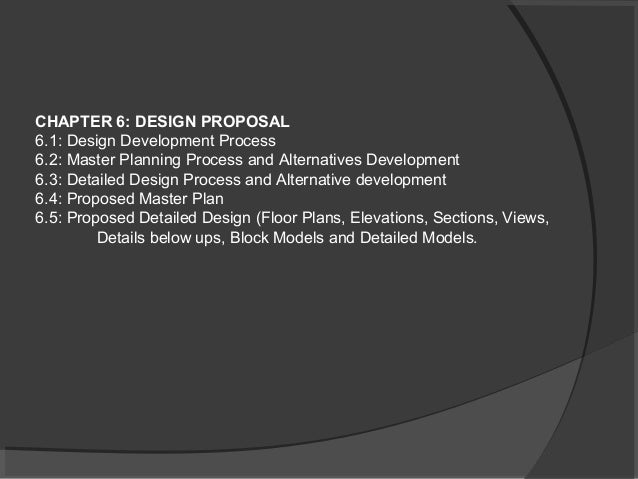 Architecture dissertation proposals