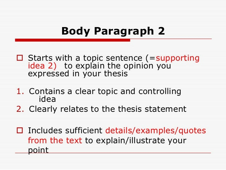 how to write a thesis statement powerpoint