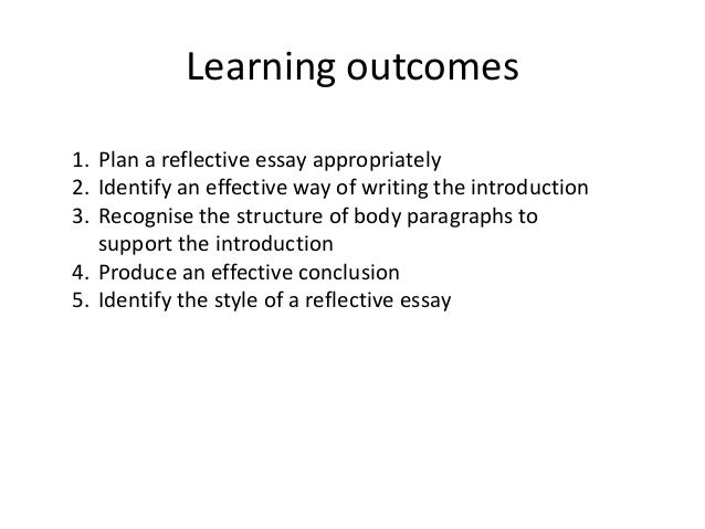 How to write self reflection essay sample