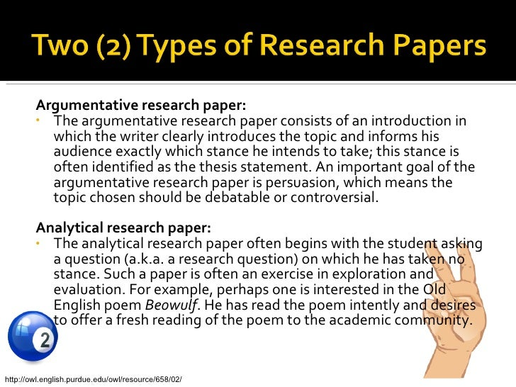 how to write an analytical research paper