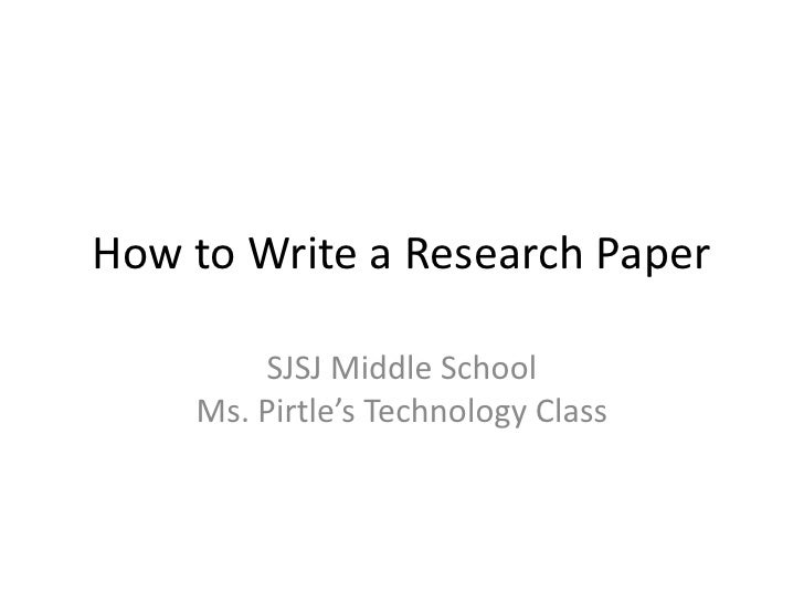 How to write a research paper middle school ppt