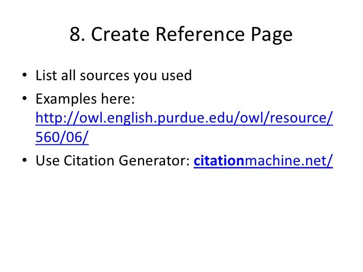 reference page for a research paper Guide to writing an apa style research paper the title page and the rest of the paper you can make the in the reference list at the end of your paper.