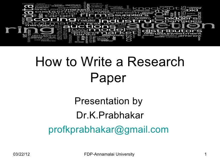 how write a research paper fast