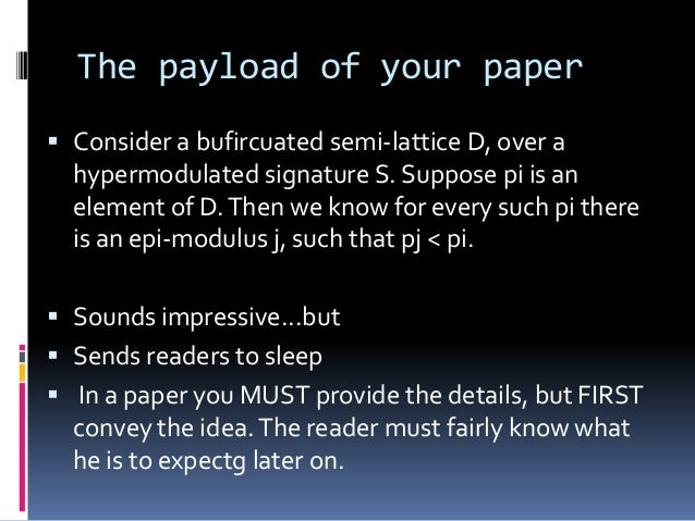 The payload of your paper  Consider a bufircuated semi-lattice D, over a hypermodulated signature S. Suppose pi is an ele...