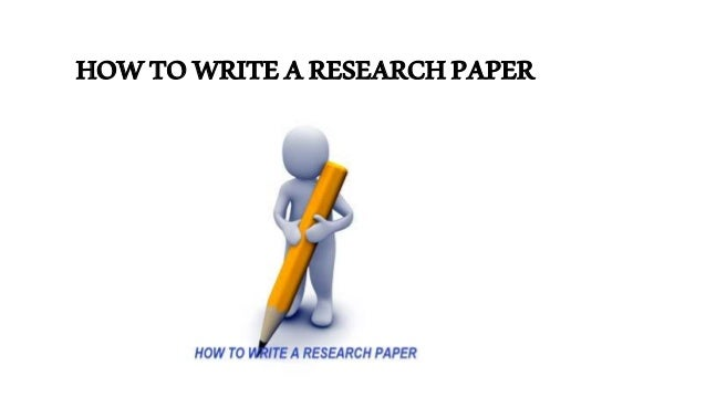 How can i write a research paper