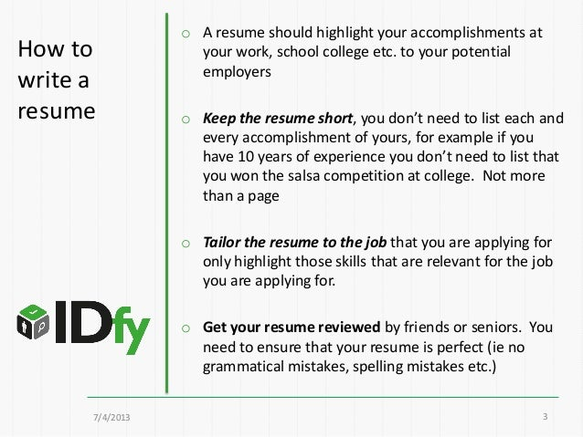 ... 3. O A Resume Format ...