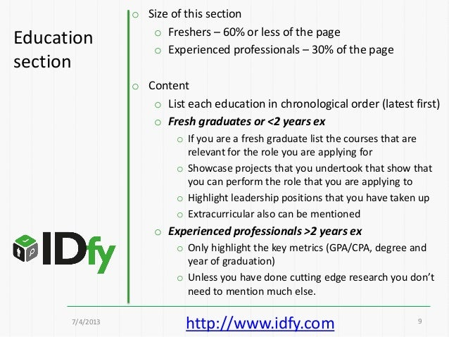 ... 9Educationsection; 9. Check Out A Sample Resume ...