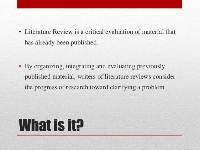 how to write a review of related literature The writing center academic services • phone: 962-7710 wwwuncedu/depts/wcweb/ how to write a literature review what this handout is about this handout will explain what a literature.