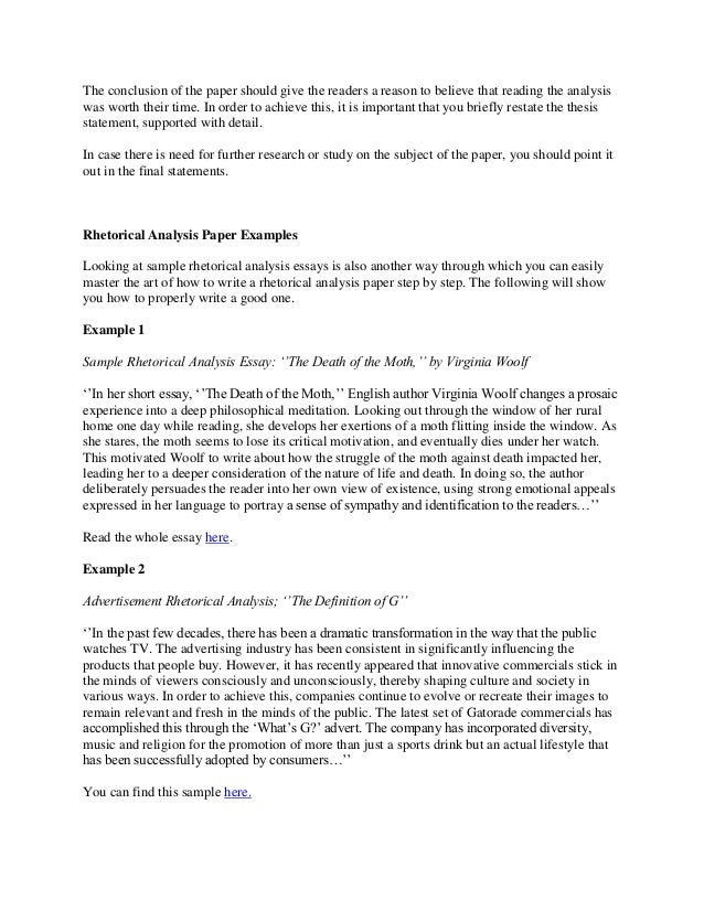 writing a rhetorical analysis rhetorical essay example - Example Of A Rhetorical Essay