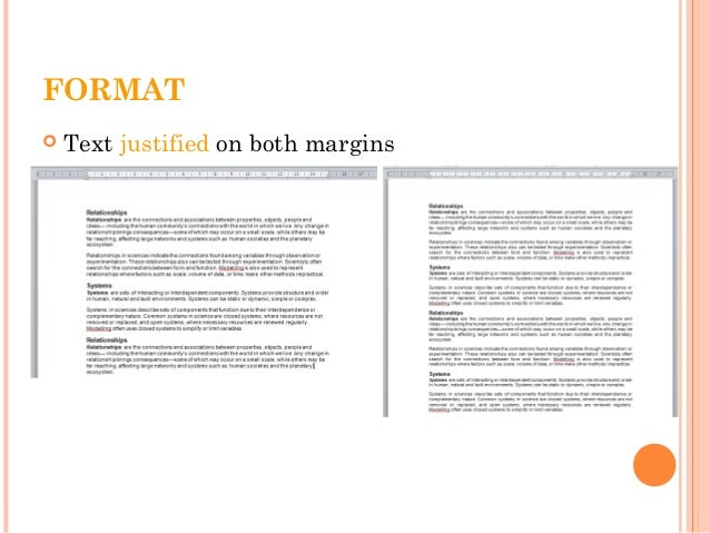 FORMAT  Text Justified On Both Margins ...