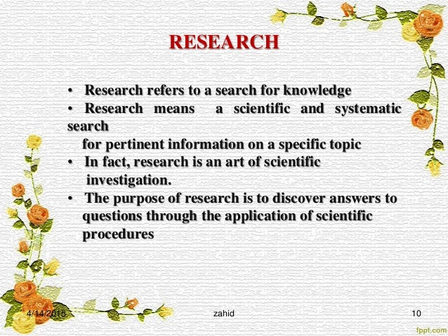 purpose of scientific research paper A research paper is a method of communication, an attempt to tell others about some specific data that you every scientific paper must have a self-explanatory title by reading the title, the work being the abstract should present, in about 250 words, the purpose of the paper, general materials and.