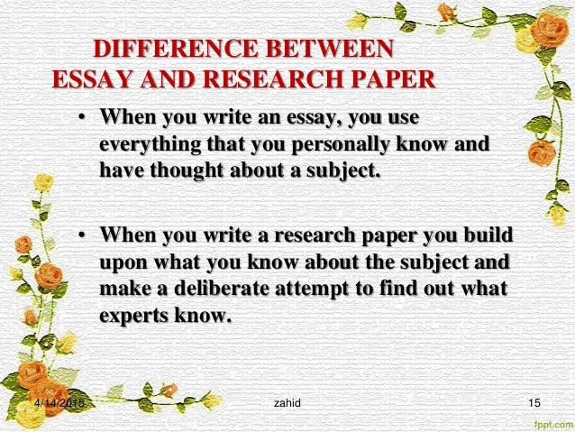 Essay term paper difference