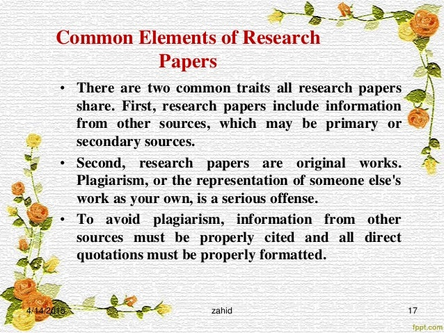 how to write a scientific paper   17 common elements of research papers