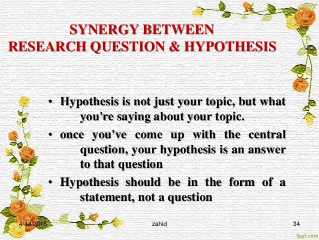 How to write a good hypothesis for science