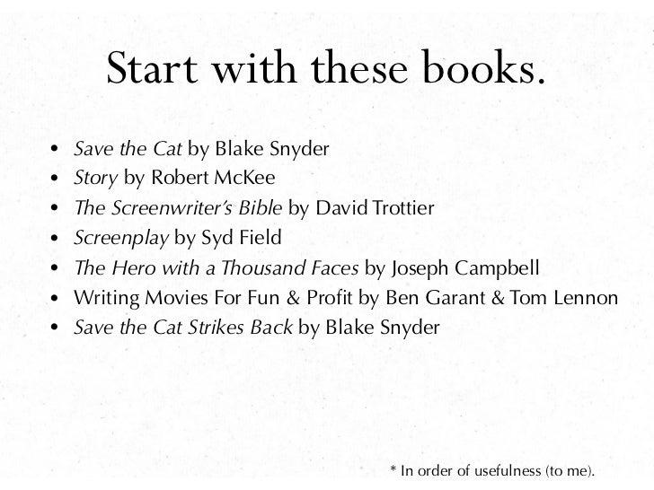 how to write a screenplay