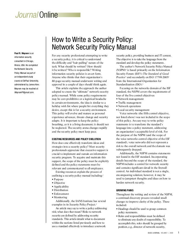 How to Write a Policy Recommendation