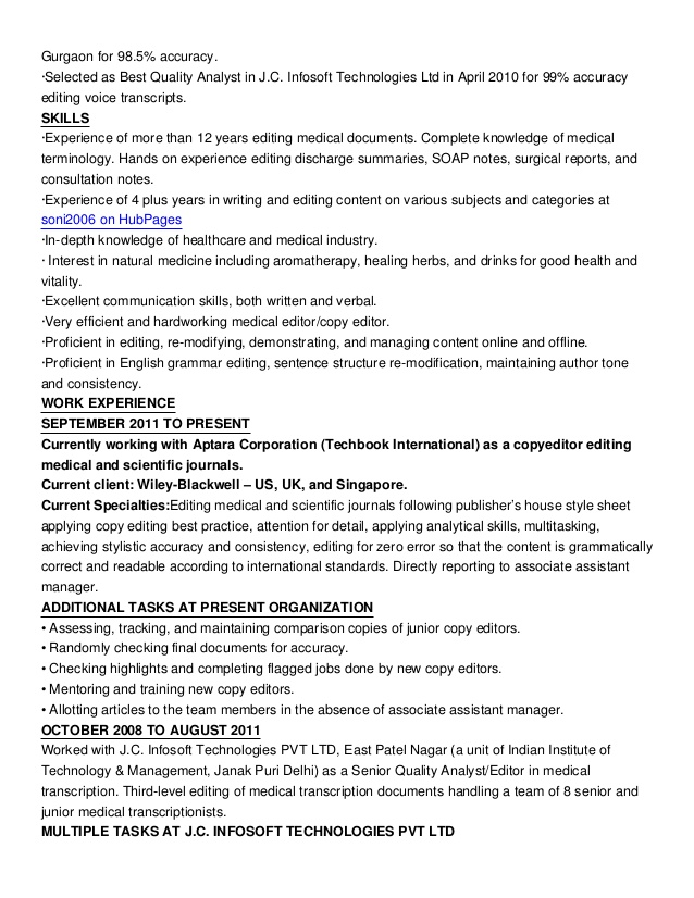 copy editor resume samples - Parfu kaptanband co