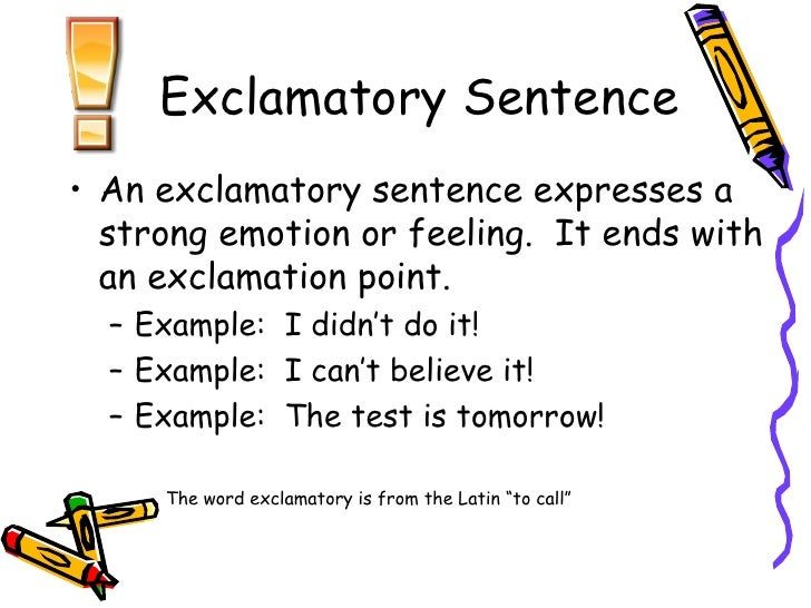 sample of exclamatory sentence