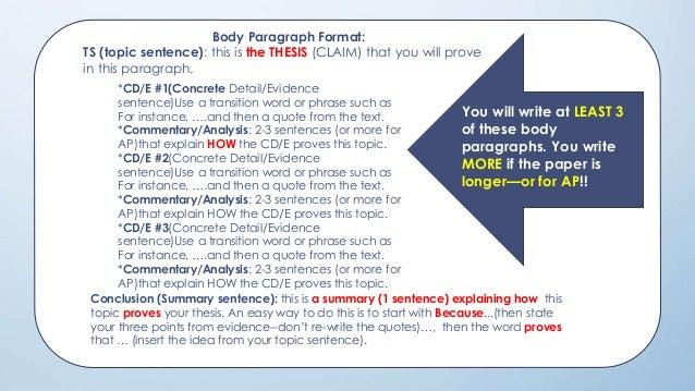 response paragraph template