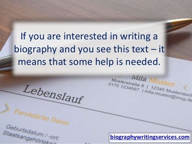 How to write a short professional biography Slide 2