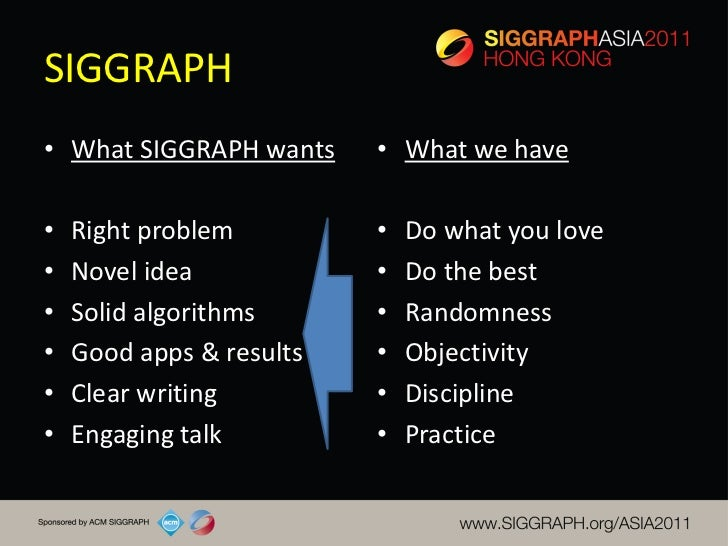 Siggraph Asia 2011 Course How To Write A Siggraph Paper