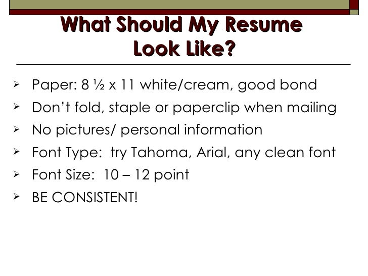 What Should My Resume ...