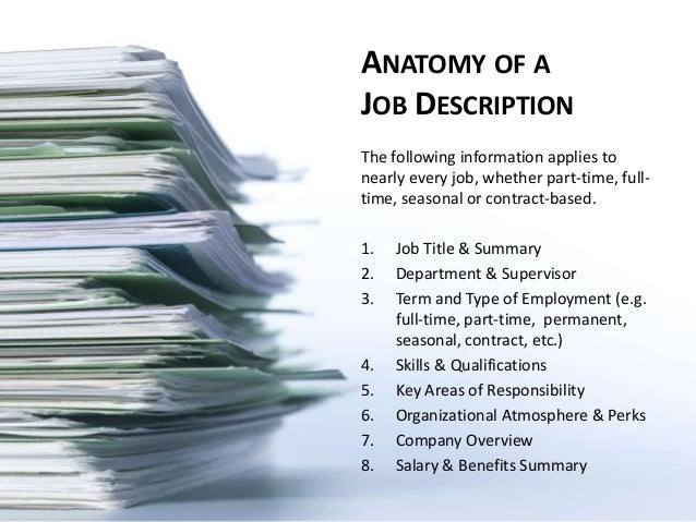 SlideShare  Writing A Job Summary