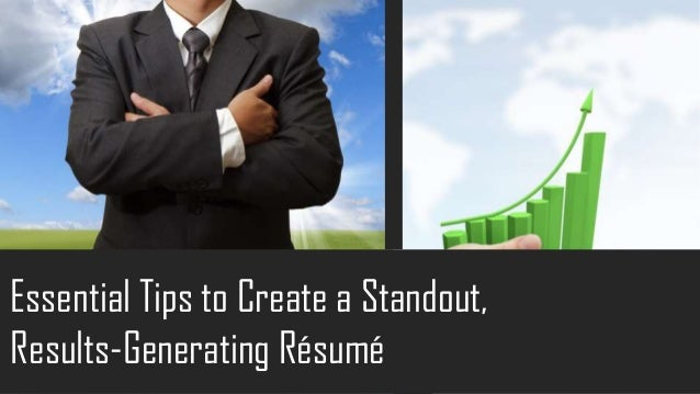 how to write a standout resume action employment do you know how