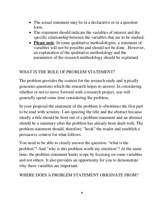 admissions statement