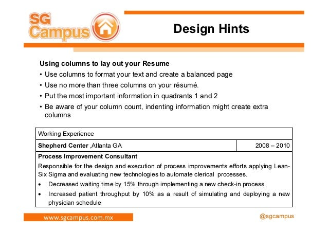 Delightful Resume Hints And Resume Hints