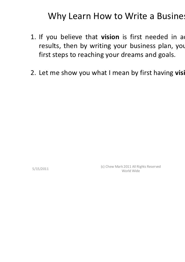 how to write a successful business plan book