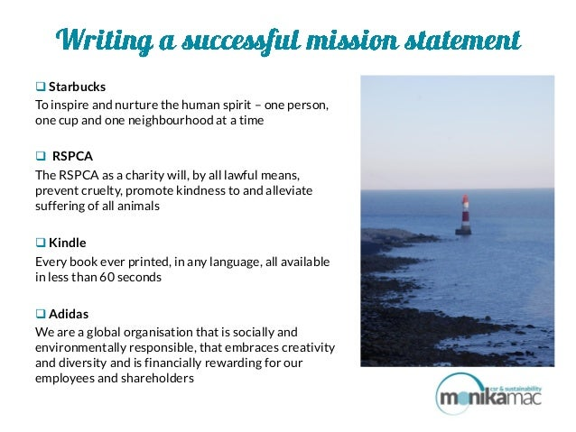 How to write a successful mission statement